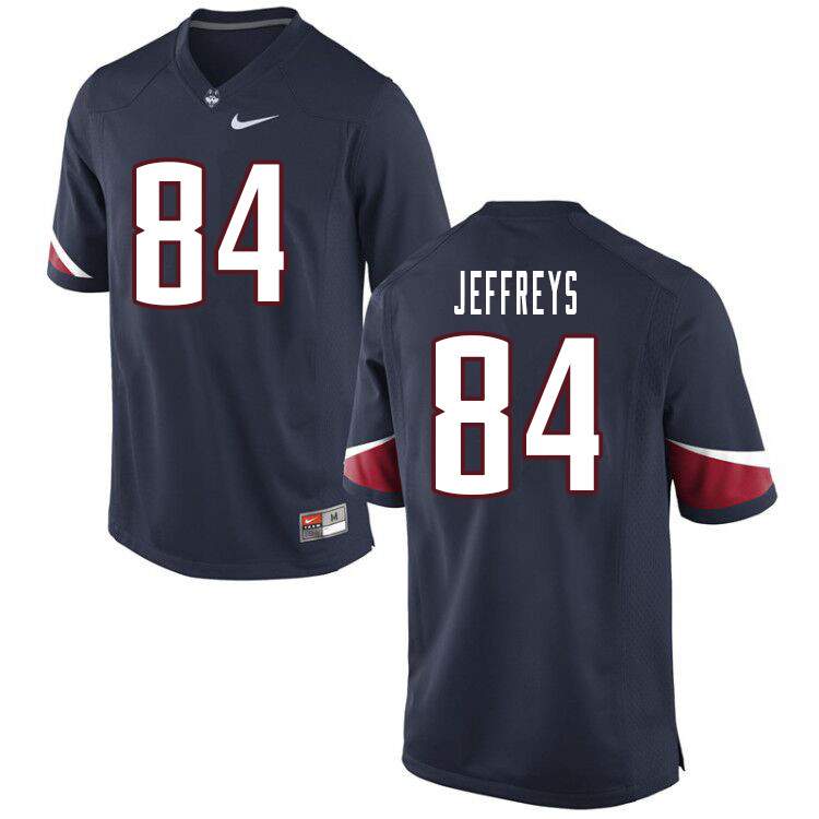Men #84 Elijah Jeffreys Uconn Huskies College Football Jerseys Sale-Navy