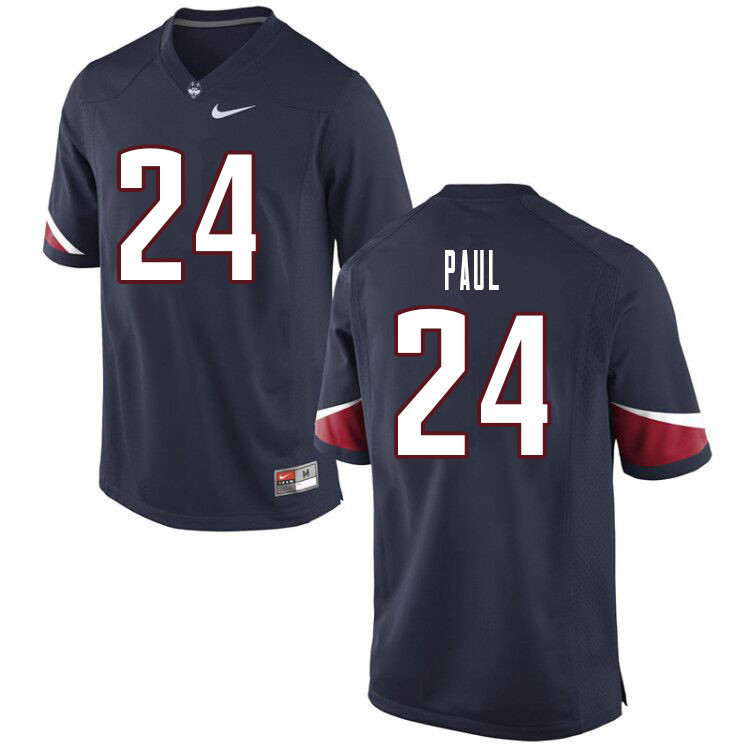 Men #24 Keyshawn Paul Uconn Huskies College Football Jerseys Sale-Navy
