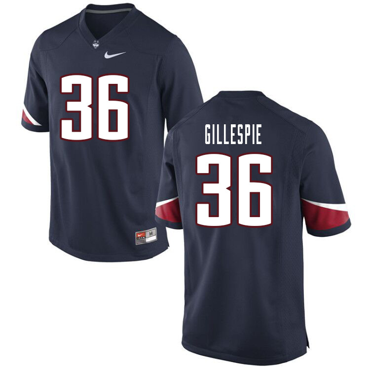 Men #36 Khyon Gillespie Uconn Huskies College Football Jerseys Sale-Navy