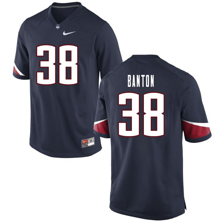 Men #38 Lavarey Banton Uconn Huskies College Football Jerseys Sale-Navy