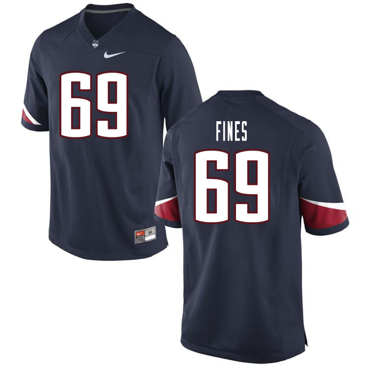 Men #69 Ryan Fines Uconn Huskies College Football Jerseys Sale-Navy