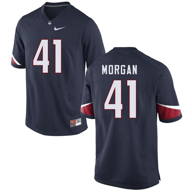 Men #41 D.J. Morgan Uconn Huskies College Football Jerseys Sale-Navy