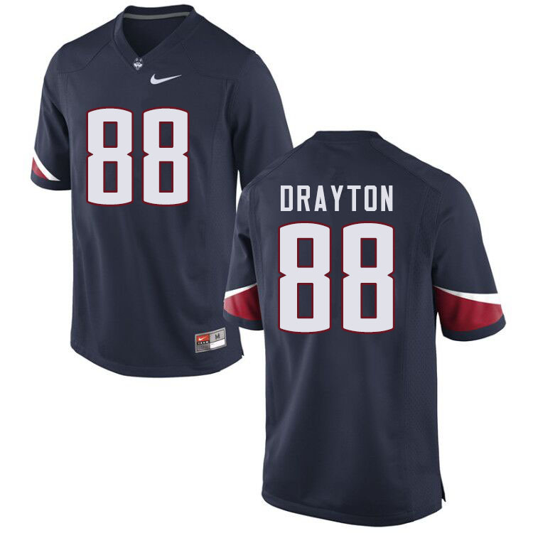 Men #88 Matt Drayton Uconn Huskies College Football Jerseys Sale-Navy