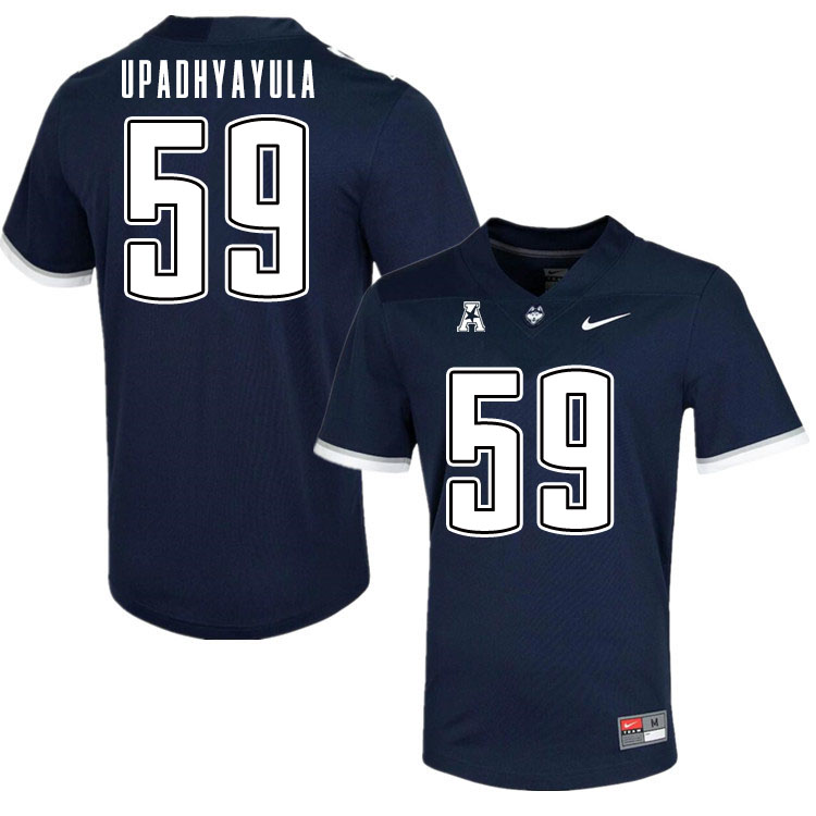 Men #59 Nilay Upadhyayula Uconn Huskies College Football Jerseys Sale-Navy