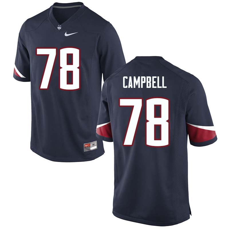 Men's #78 Ian Campbell Uconn Huskies College Football Jerseys Sale-Navy