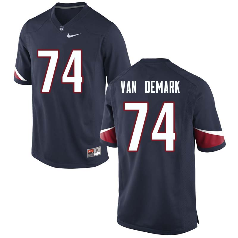 Men's #74 Ryan Van Demark Uconn Huskies College Football Jerseys Sale-Navy