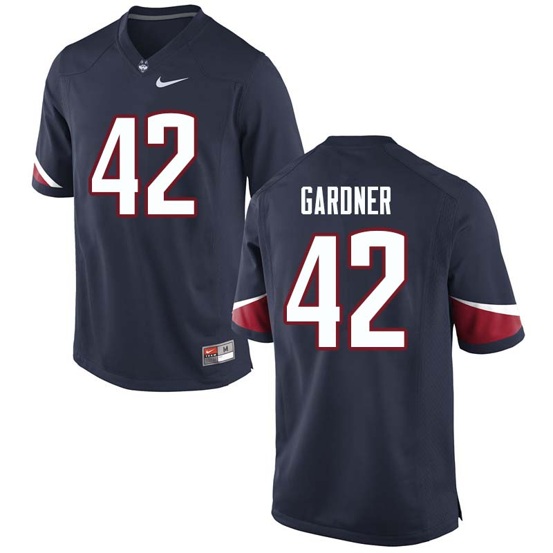 Men's #42 T.J. Gardner Uconn Huskies College Football Jerseys Sale-Navy