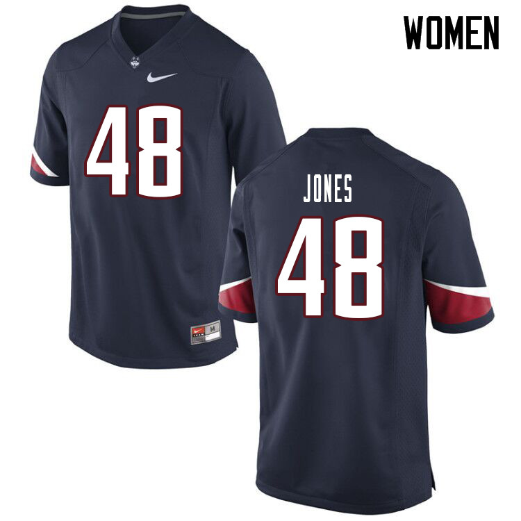 Women #48 Kevon Jones Uconn Huskies College Football Jerseys Sale-Navy