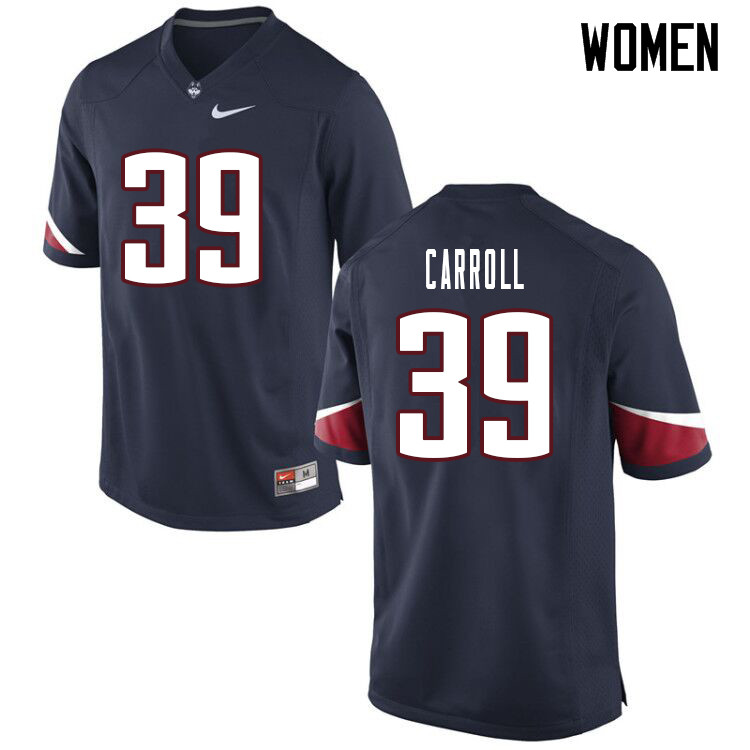 Women #39 Ryan Carroll Uconn Huskies College Football Jerseys Sale-Navy