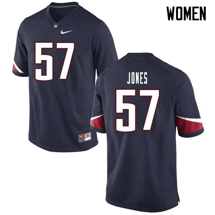 Women #57 Travis Jones Uconn Huskies College Football Jerseys Sale-Navy