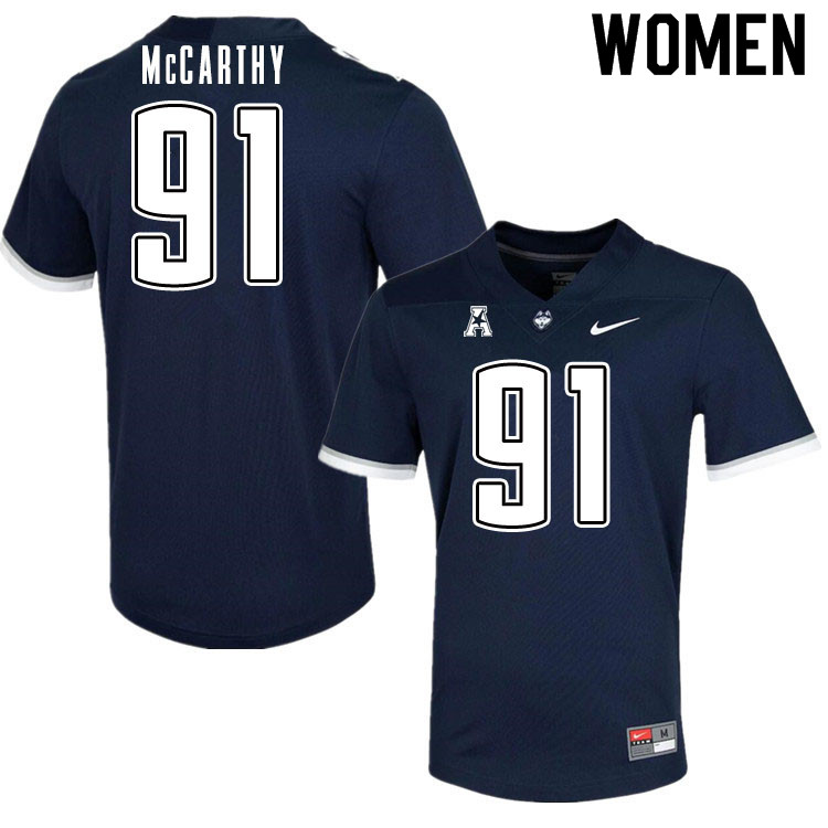 Women #91 Collin McCarthy Uconn Huskies College Football Jerseys Sale-Navy