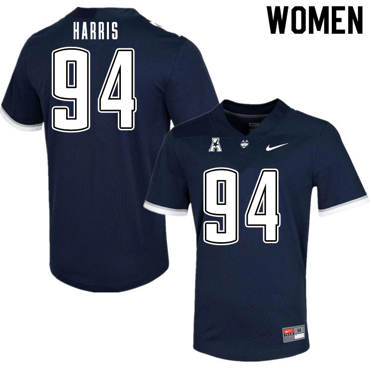 Women #94 Nick Harris Uconn Huskies College Football Jerseys Sale-Navy