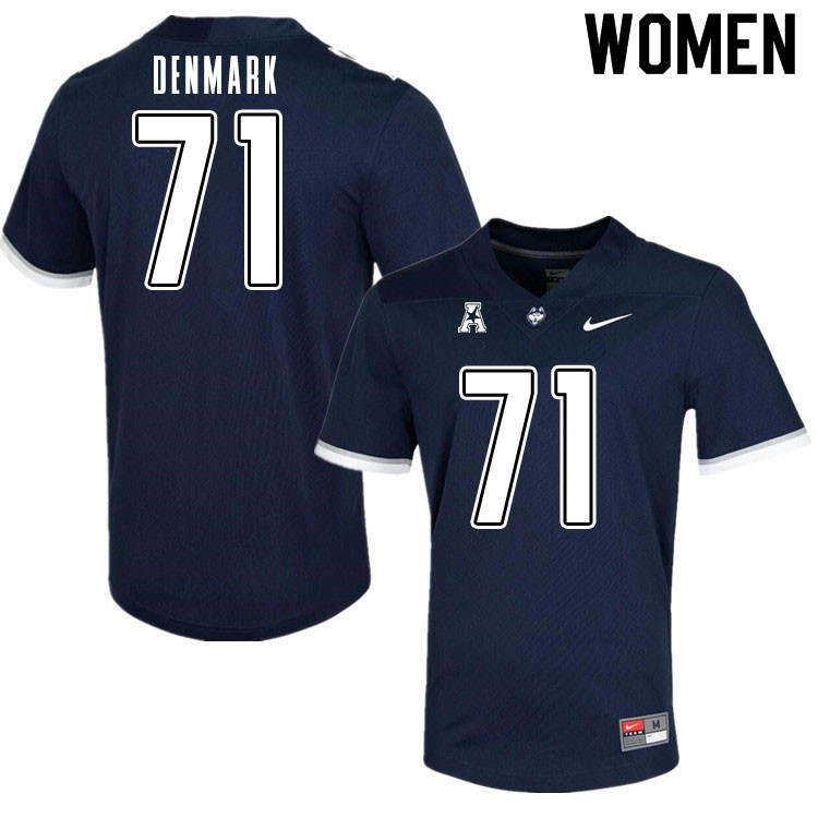 Women #71 Ryan Denmark Uconn Huskies College Football Jerseys Sale-Navy