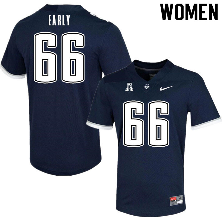 Women #66 Zack Early Uconn Huskies College Football Jerseys Sale-Navy