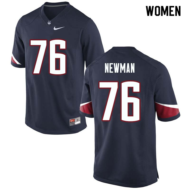 Women #76 Harrison Newman Uconn Huskies College Football Jerseys Sale-Navy