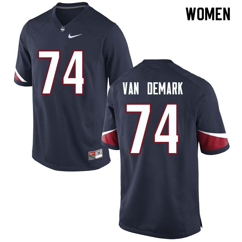 Women #74 Ryan Van Demark Uconn Huskies College Football Jerseys Sale-Navy