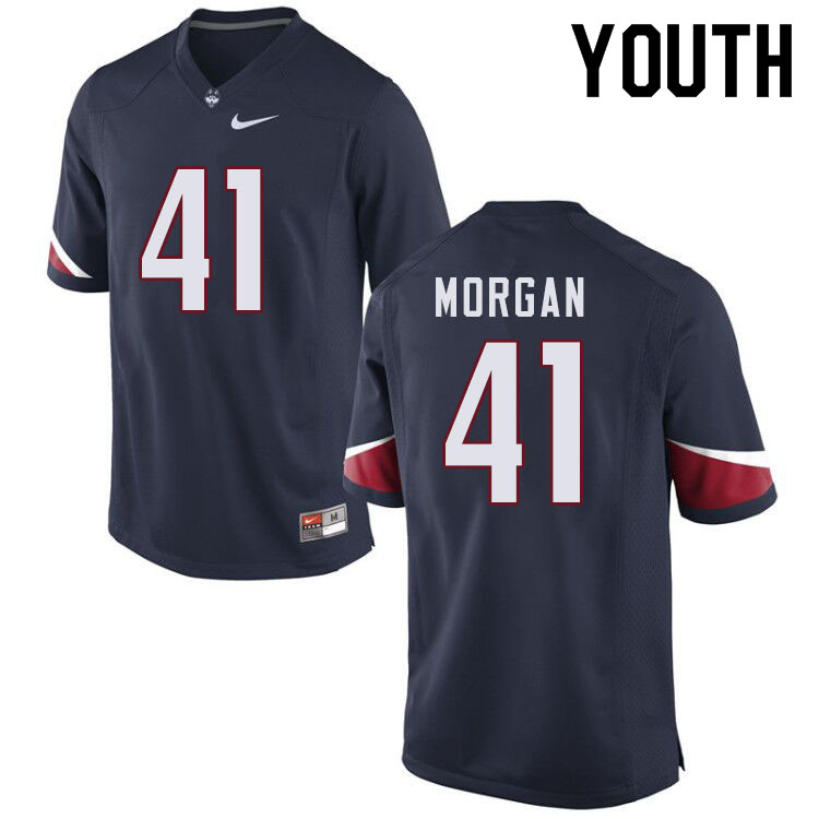 Youth #41 D.J. Morgan Uconn Huskies College Football Jerseys Sale-Navy
